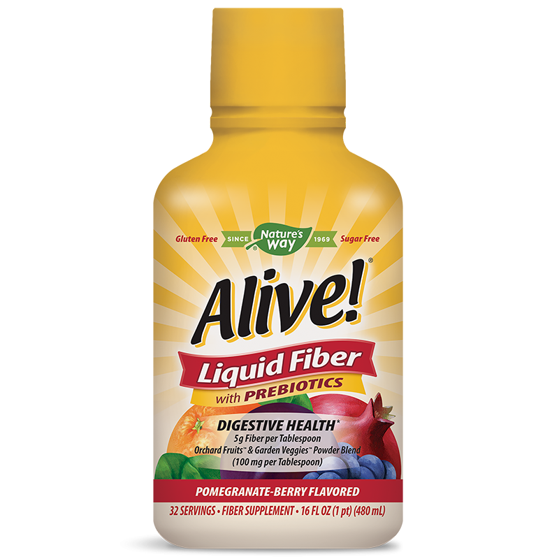 Alive! Liquid Fiber With Prebiotics/ Алайв! Течни фибри с Пребиотици 480 ml х 32 дози с вкус на нар