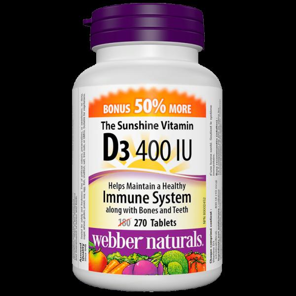 Vitamin D3 / Витамин D3, 400 IU, 270...