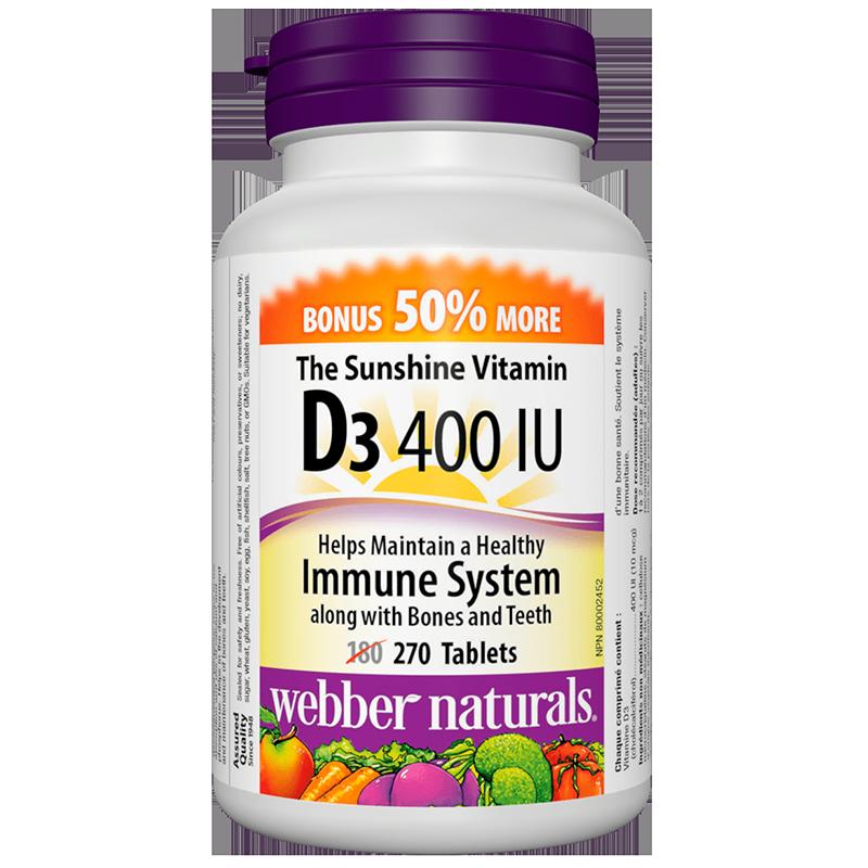 Vitamin D3 / Витамин D3, 400 IU, 270 таблетки