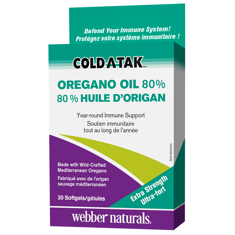 Cold-A-Tak® Oregano Oil Extra Strength / Риган (масло / 80% карвакрол), 180 mg, 30 софтгел капсули