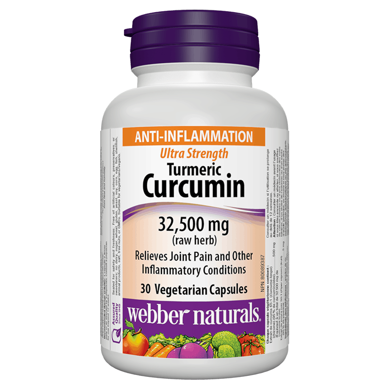 Turmeric Curcumin Ultra Strength / Куркума и черен пипер, 32 500 mg, 30 капсули
