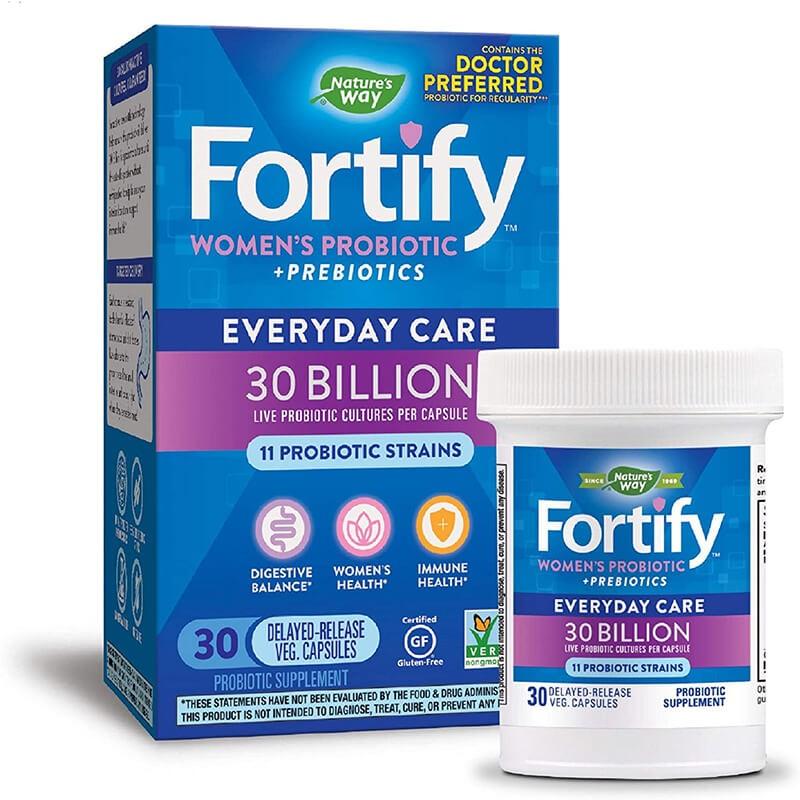Fortify™ Womens Probiotic+ Prebiotics / Пробиотик за жени, 30 милиарда активни пробиотици, 30 капсули със забавено освобождаване