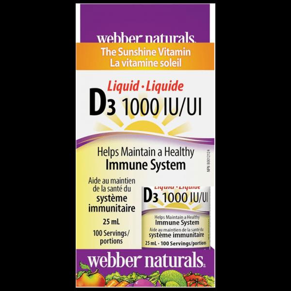 Витамин D3 /течен/ 1000 IU x 25 ml