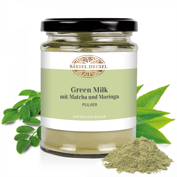 Green Milk mit Matcha und Moringa...