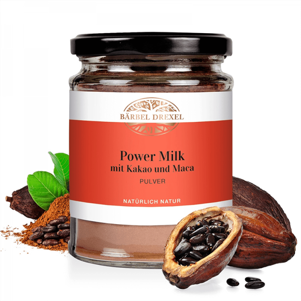 Power Milk mit Kakao und Maca Pulver...