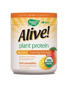 Alive /Алайв Оргáник растителен протеин от грах, коноп, киноа, кафяв ориз и саша инчи /с вкус на тропическо манго/ 420 g Alive!