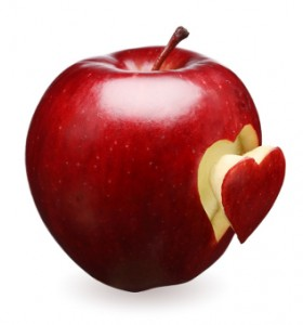 Полезните вещества на ябълката се намират предимно в кората й