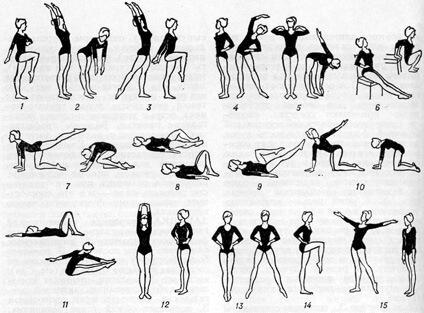 ежедневния комплекс от общоукрепващи упражнения