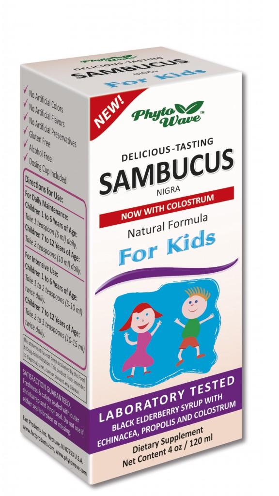 Самбукус сироп за деца с черен бъз, ехинацея, прополис и коластра за силен имунитет