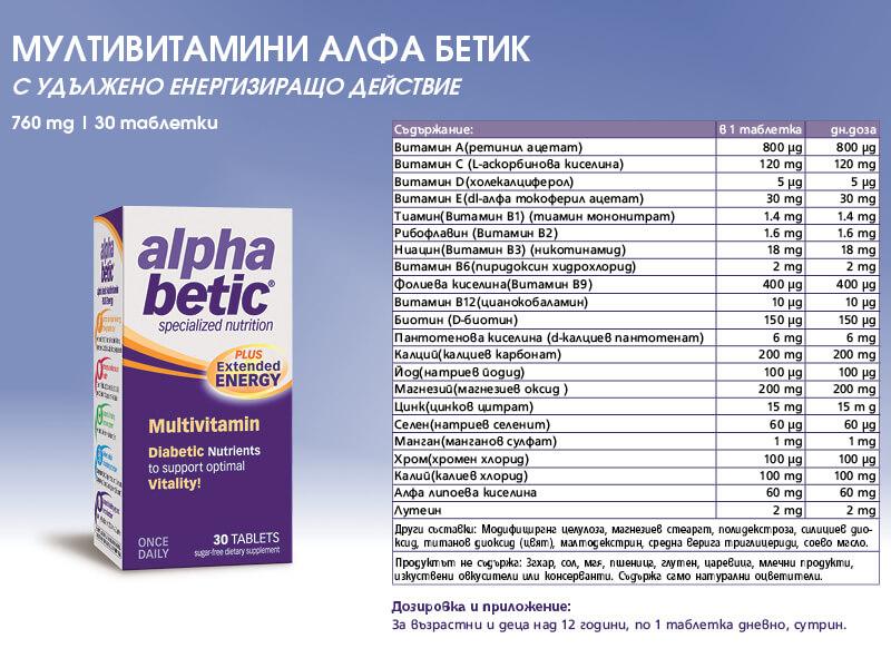 алфа бетик мултивитамини против диабет