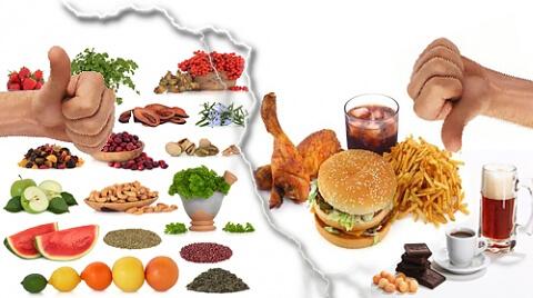 здравословно хранене, вредни храни