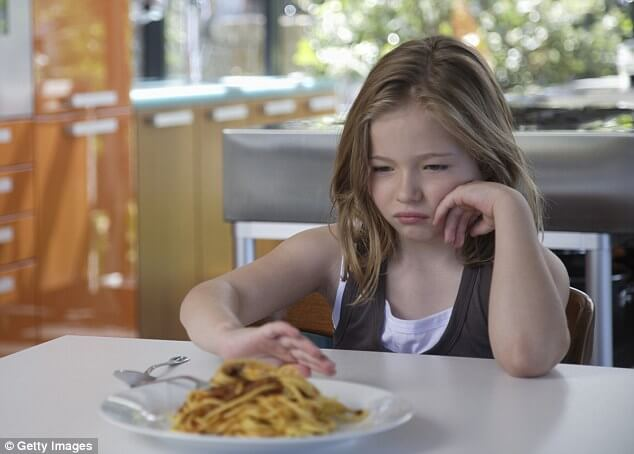 Избирателното хранене би могло да е сигнал за депресия при децата